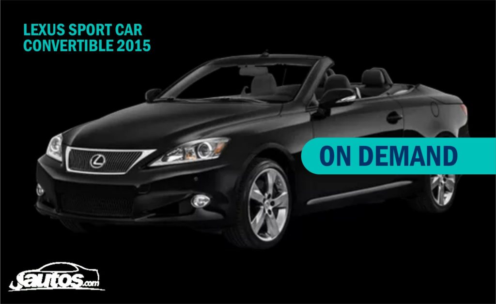 LEXUS SPORT CAR CONVERTIBLE 2015- (PRIZE ON DEMAND)
