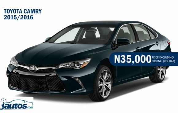 Toyota Camry 2015/2016- N35,000 (AMOUNT PER DAY WITHOUT FUELING