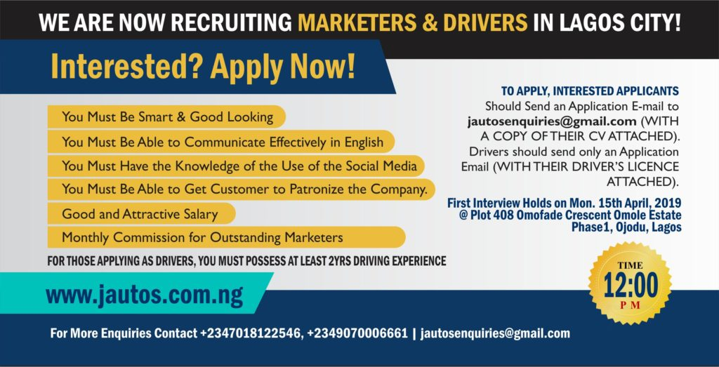 We Are Recruiting New Marketers & Drivers