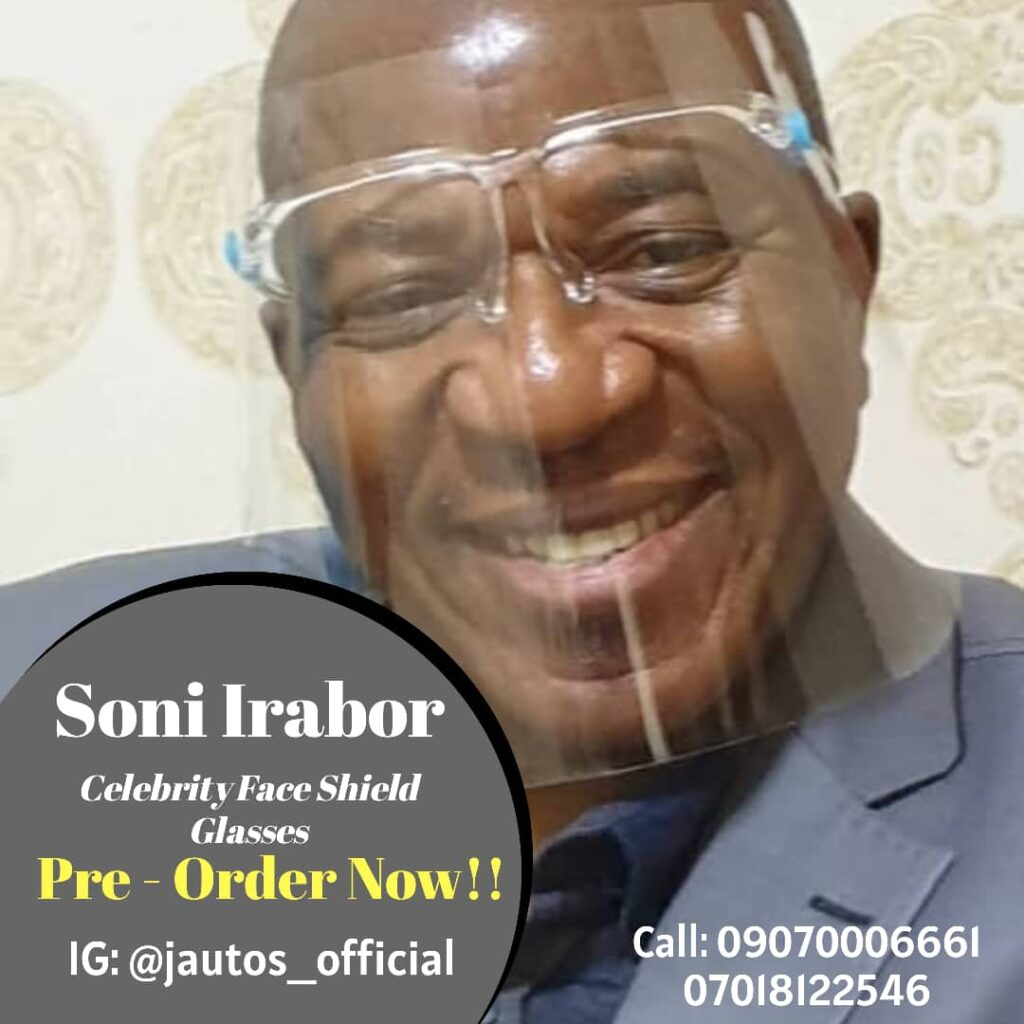 Jautos: Breaking News –  Top veteran Media personality and TV presenter Uncle Soni Irabor endorses Jautos Original Face Shield Glasses
