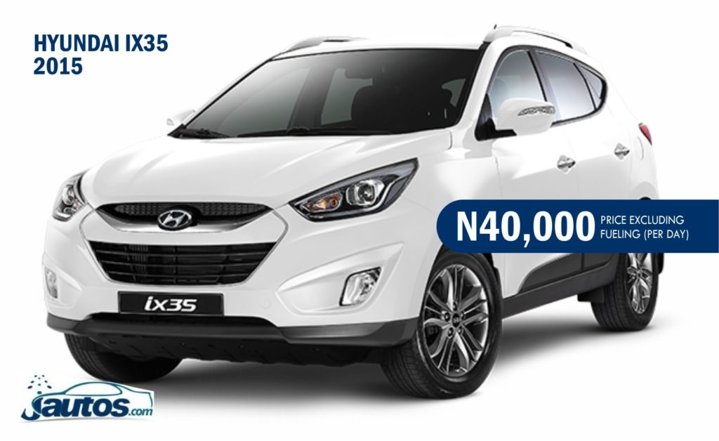 HYUNDAI IX35 2015- N40,000 (AMOUNT PER DAY WITHOUT FUELING)