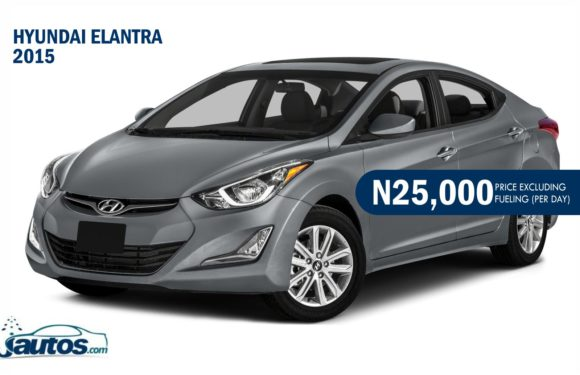 Hyundai Elantra 2015- N25,000 (AMOUNT PER DAY WITHOUT FUELING)