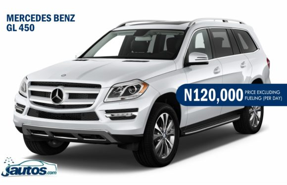 MERCEDES BENZ GL 450- N120,000 (AMOUNT PER DAY WITHOUT FUELING)