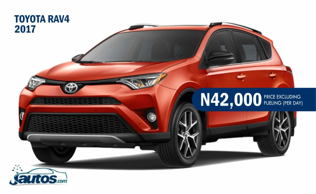 TOYOTA RAV4 2017- N42,000 (AMOUNT PER DAY WITHOUT FUELING)