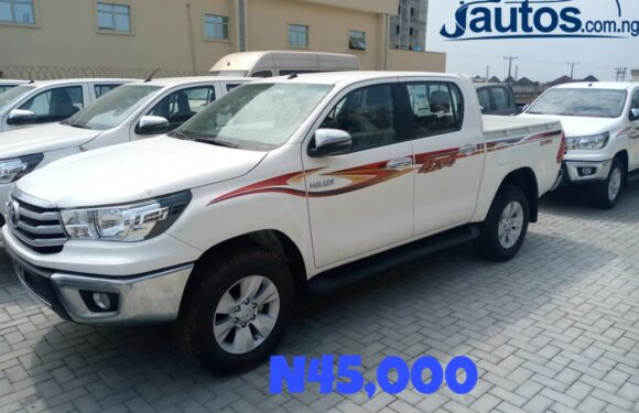 TOYOTA HILUX- N45,000 (AMOUNT PER DAY WITHOUT FUELING)