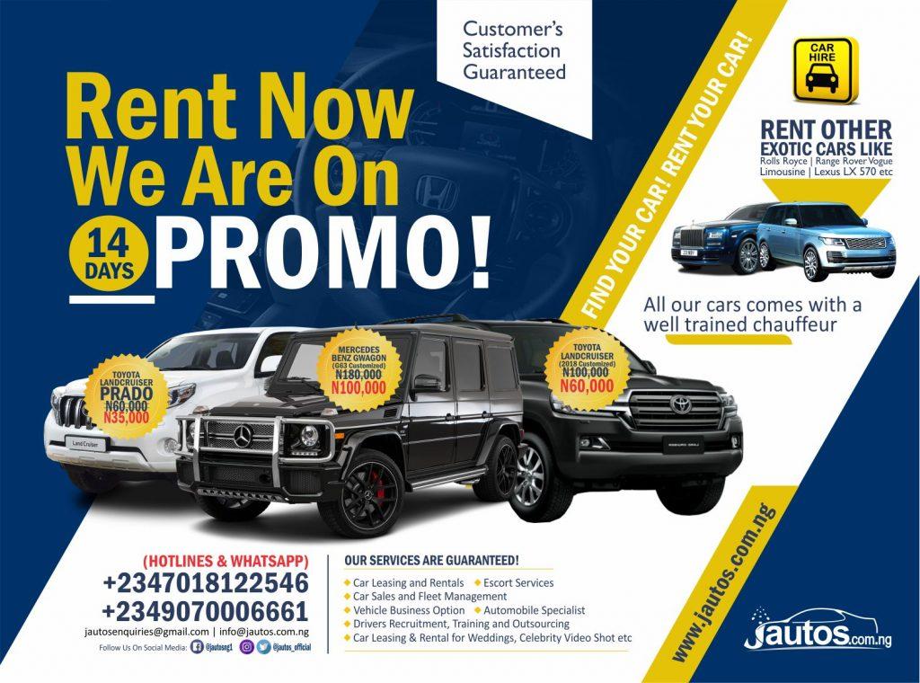WOO!!! Get 40% Off Jautos Car Rent Prices for the Next 14 Days